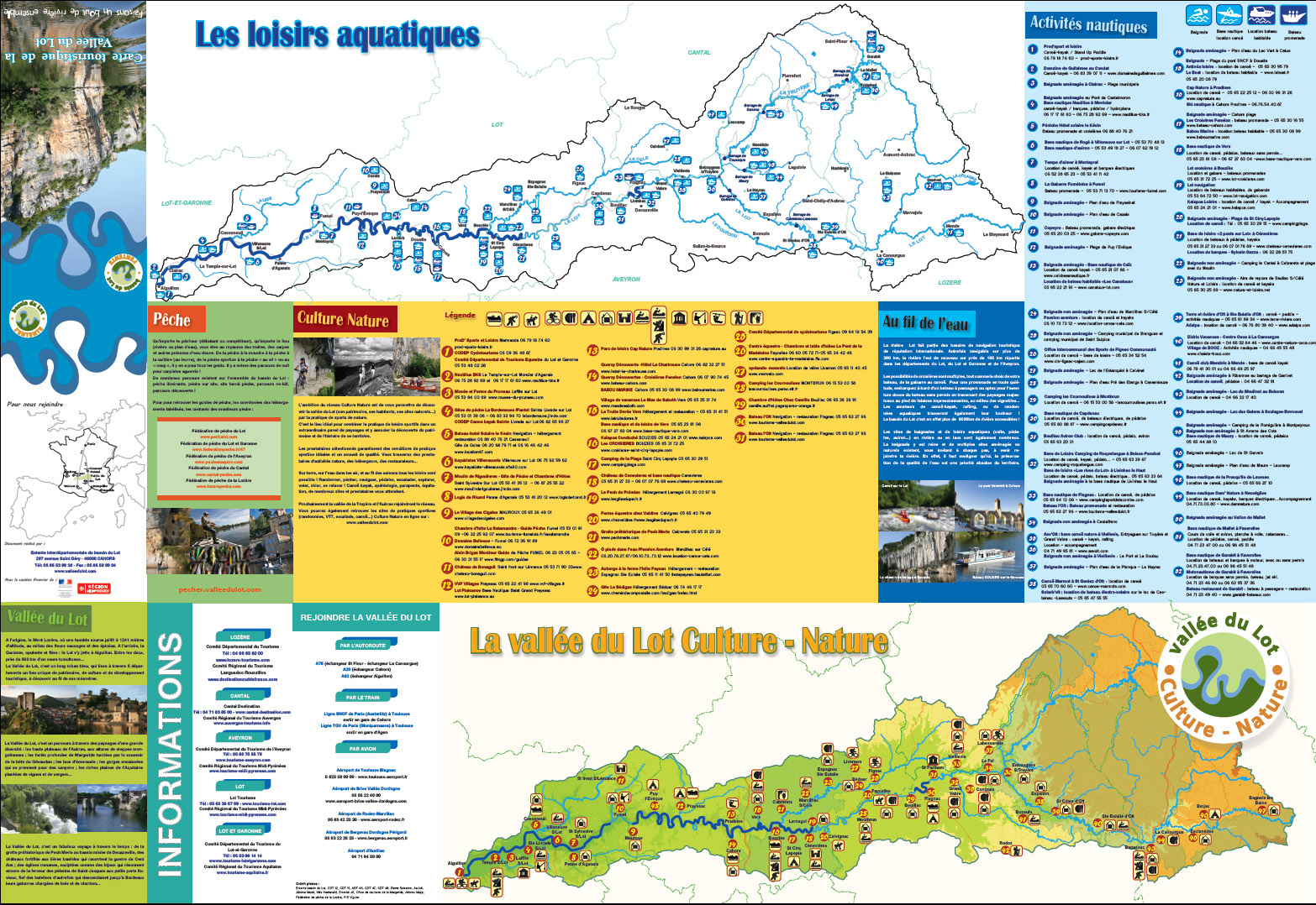 Carte touristique Entente Lot